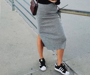 casual, grey, and outfit image