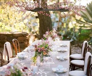 flowers and outdoor party image