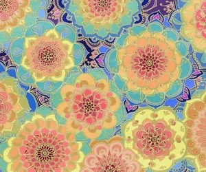 boho, flowers, and hippie image