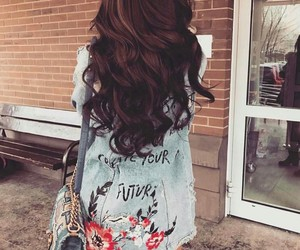 brown hair, fashion, and jeans image