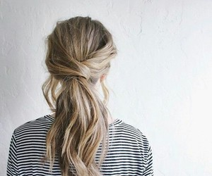 hair, updo, and low ponytail image
