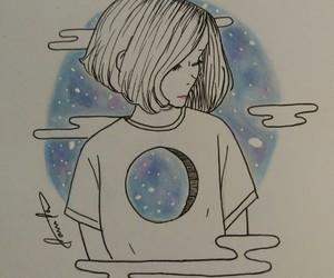 creative, drawing, and galaxy image