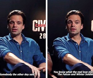 Marvel, sebastian stan, and actor image