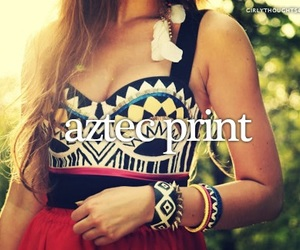 aztec print and girly thoughts image