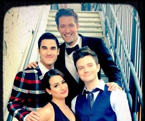 glee, darren criss, and lea michele image