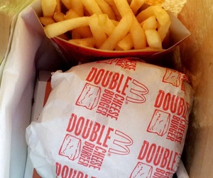 delicious, dinner, and fries image