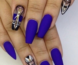 blue, nails, and beautyful image