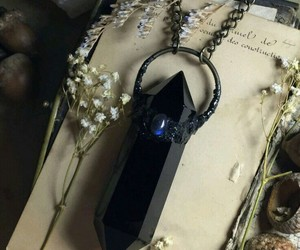 black, fantasy, and jewelry image