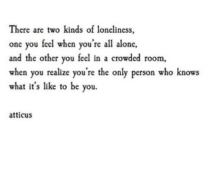 alone, atticus, and poetry image