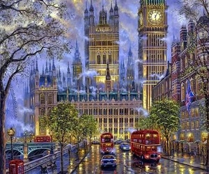 london, watercolor, and ladysuzanne image
