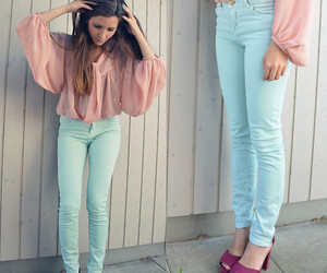 elegant, girl, and jeans image