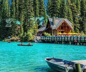 canada, lake, and travel image