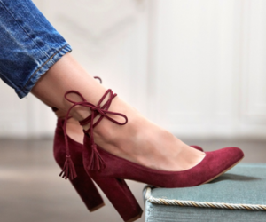 burgundy, pretty, and shoe image