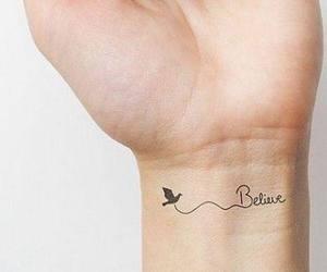 tattoo, believe, and bird image