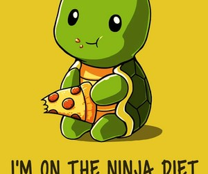 pizza, turtle, and diet image
