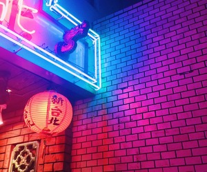 neon, aesthetic, and neon lights image