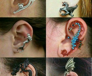 earrings and girl image