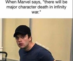Marvel, bucky, and meme image