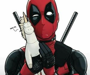 deadpool, Marvel, and unicorn image
