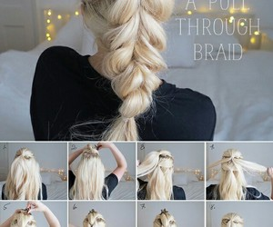 blonde, comb, and ponytail image