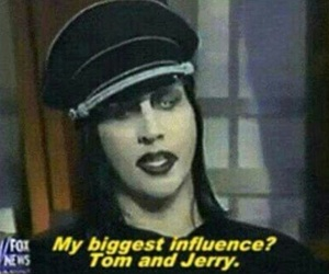 Marilyn Manson and tom and jerry image