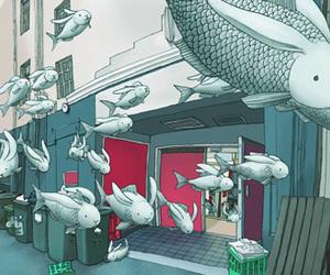 bunnys, fish, and kozyndan image