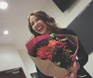 bouquet, flowers, and smile image