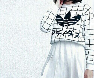 fashion, white, and adidas image