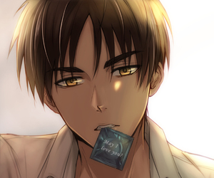 anime, eren, and levi image