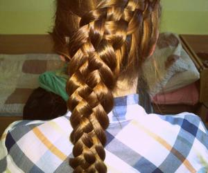 braid, hairstyle, and plait image
