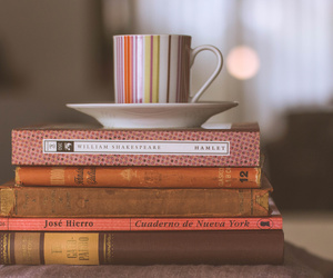books, coffee, and cups image