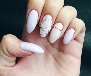 manicure, marble, and nails image