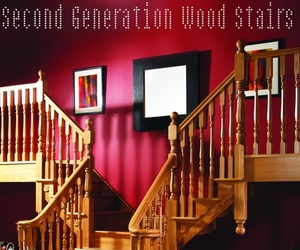 wooden stairs, brooklyn stairs, and wood stairs image