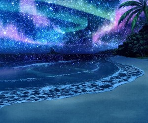 beach, stars, and night image