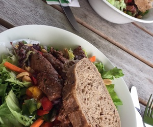 beef, bread, and healthy image