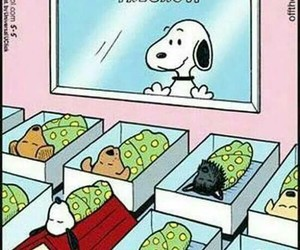 snoopy, dog, and baby image
