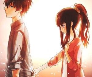 anime, couple, and hyouka image