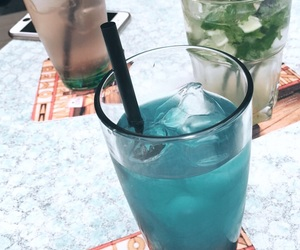 beach, blue, and Cocktails image