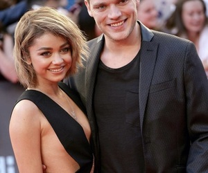 couple, red carpet, and sarah hyland image