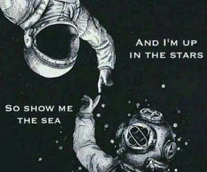 astronaut, diver, and friendship image