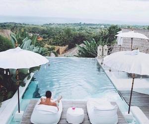 villa and pool view image