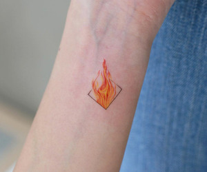 fire and tattoo image