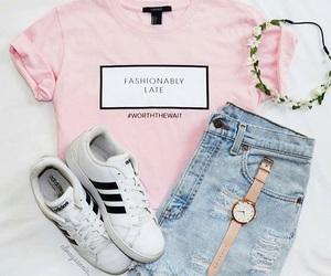 adidas, casual, and girly image