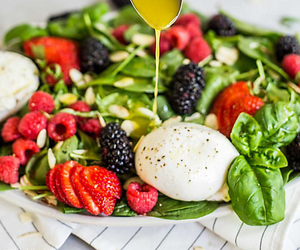 salad, food, and healthy image
