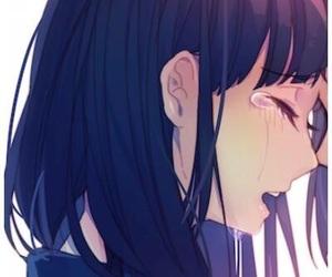 anime, sad, and girl image
