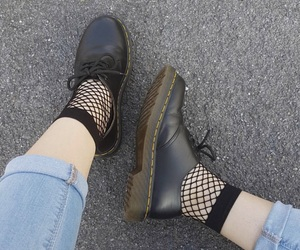 aesthetic, alternative, and black shoes image