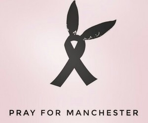 ariana grande, manchester, and pray image