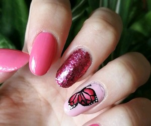 butterfly, manicure, and nail image