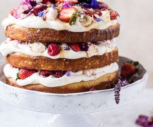 berries and cake image