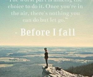 quote and before i fall image